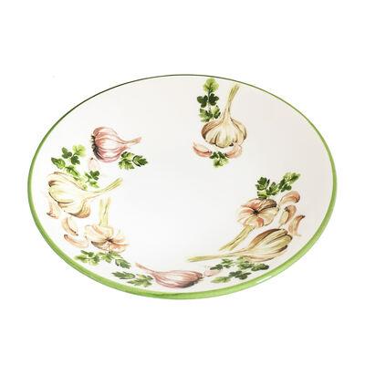 Abbiamo Tutto Italian Garlic and Herb Ceramic Dinnerware, , default