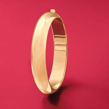 14kt Gold Over Sterling Silver Bangle Bracelet, , default