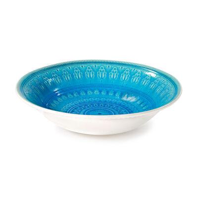 """Euro Ceramica """"Fez"""" Turquoise Serving Bowl, , default"""