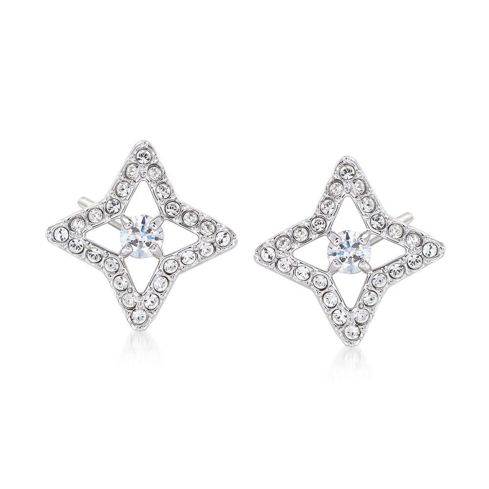Swarovski Crystal Sparkling Dance Star Earrings In Silvertone Default