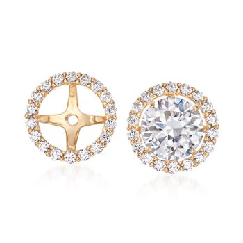 .50 ct. t.w. CZ Earring Jackets in 14kt Yellow Gold , , default