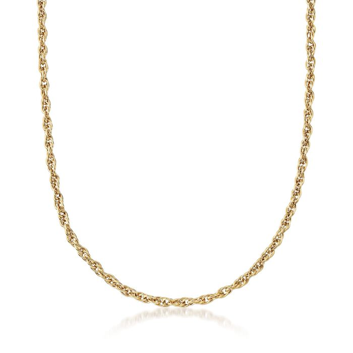 """18kt Yellow Gold Multi-Circle Twisted Link Necklace. 16"""""""