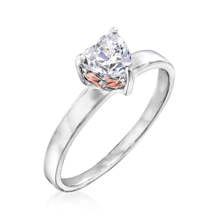 .76 ct. t.w. Swarovski CZ Heart-Shaped Ring in Sterling Silver