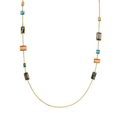 "C. 2000 Vintage Ippolita ""Rock Candy"" Multi-Gemstone Necklace in 18kt Yellow Gold, , default"