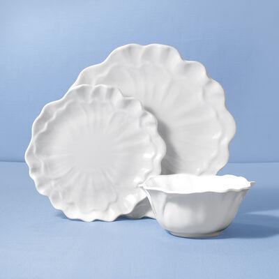 """Peony"" White Melamine Dinnerware, , default"