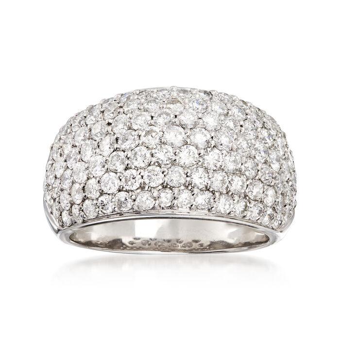 C. 1990 Vintage 3.00 ct. t.w. Diamond Pave Ring in Platinum. Size 7.25, , default