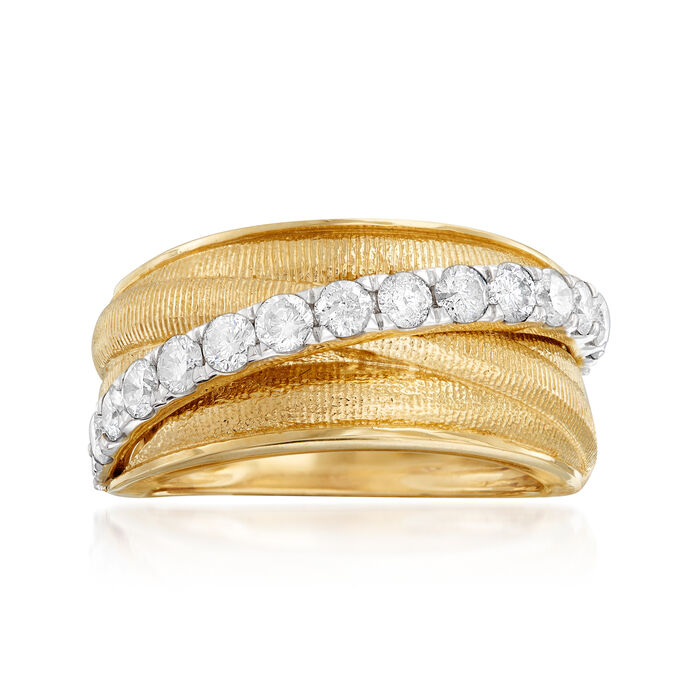 1.00 ct. t.w. Diamond Highway Ring in 14kt Yellow Gold, , default