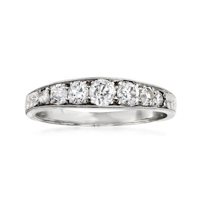 C. 1950 Vintage .70 ct. t.w. Diamond Ring in Platinum