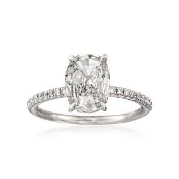 Henri Daussi 1.73 ct. t.w. Certified Diamond Engagement Ring in 18kt White Gold, , default