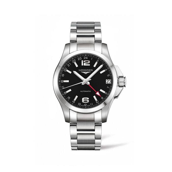 Longines Conquest Men's 41mm Automatic Stainless Steel Watch - Black Dial, , default