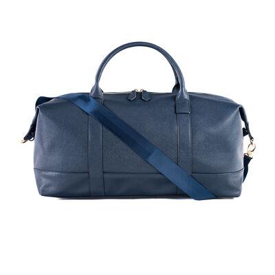 """Brouk & Co. """"Alexa"""" Faux Navy Leather Duffel Bag, , default"""