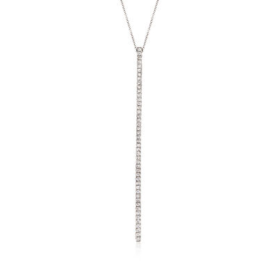 Gabriel Designs 1.00 ct. t.w. Diamond Vertical Bar Necklace in 14kt White Gold, , default