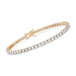 6.00 ct. t.w. Diamond Tennis Bracelet in 14kt Yellow Gold, , default