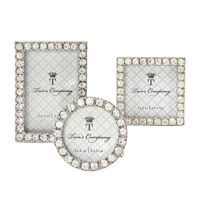 Set of 3 Jeweled Mini Picture Frames