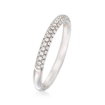 Simon G. .30 ct. t.w. Diamond Wedding Ring in 18kt White Gold, , default