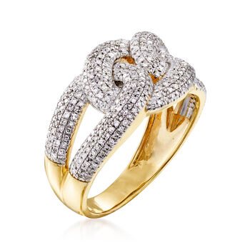 .50 ct. t.w. Diamond Link Ring in 14kt Yellow Gold, , default