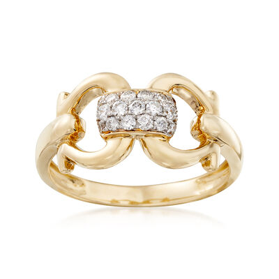 .25 ct. t.w. Diamond Link Ring in 14kt Yellow Gold, , default