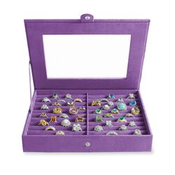 Wisteria Microsuede Ring Box, , default