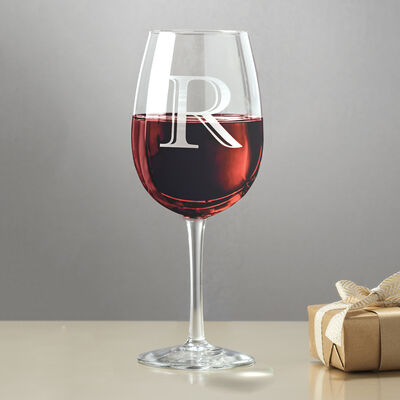 Glass Personalized Wine Glasses, , default