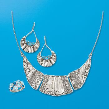 1.50 ct. t.w. Blue Topaz Teardrop Earrings in Sterling Silver