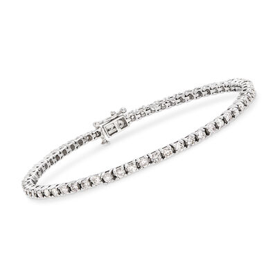 3.00 ct. t.w. Diamond Tennis Bracelet in 14kt White Gold, , default