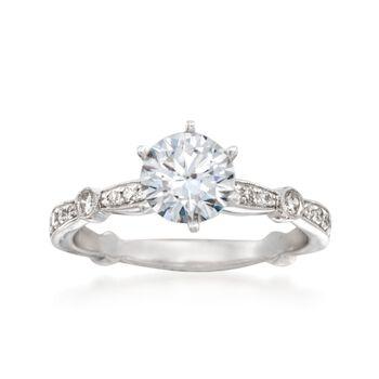 Simon G. .28 ct. t.w. Diamond Engagement Ring Setting in 18kt White Gold, , default