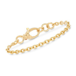 Italian Andiamo 14kt Yellow Gold Cable-Link Bracelet, , default