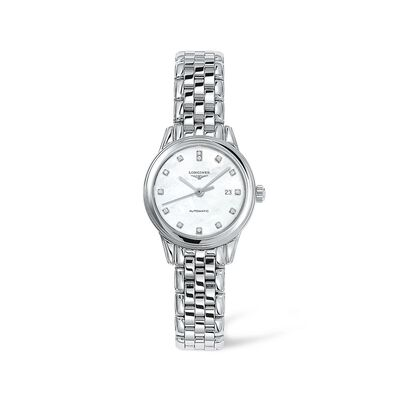 Longines Flagship Women's 30mm Automatic Stainless Steel Watch with Diamond Accents, , default