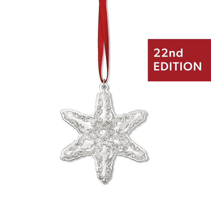 "Wallace 2019 Annual ""Grand Baroque"" Sterling Silver Snowflake Ornament - 22nd Edition, , default"