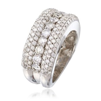 C. 1990 Vintage 2.65 ct. t.w. Diamond Ring in 14kt White Gold. Size 6.5, , default