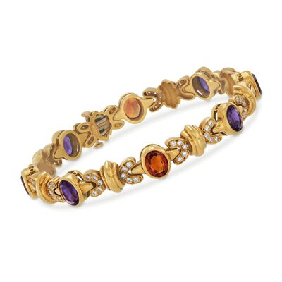 C. 1990 Vintage Cellino 10.20 ct. t.w. Multi-Stone Bracelet in 18kt Yellow Gold, , default