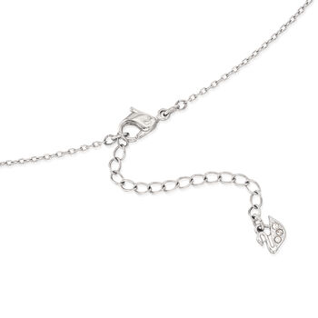 "Swarovski Crystal ""Latitude"" Clear Crystal Halo Necklace in Silvertone. 16.5"", , default"