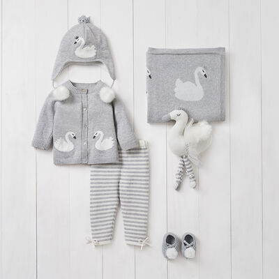 Elegant Baby Swan 6-pc. Baby Gift Set, , default