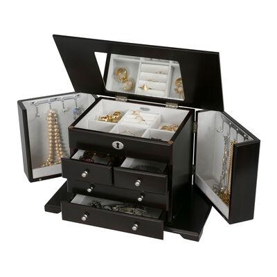 "Mele & Co. ""Ellington"" Wooden Jewelry Box, , default"