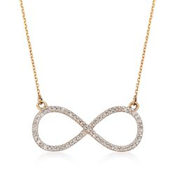 ".20 ct. t.w. Diamond Infinity Necklace in 14kt Yellow Gold. 16"", , default"