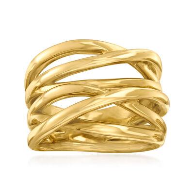 14kt Yellow Gold Crisscross Ring