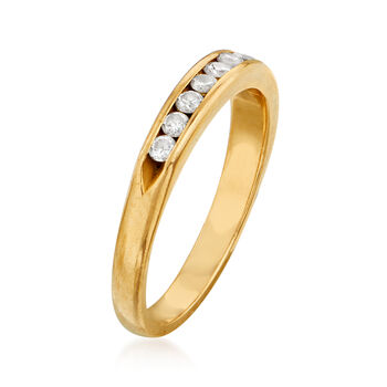C. 1980 Vintage .35 ct. t.w. Diamond Band in 14kt Yellow Gold. Size 6, , default