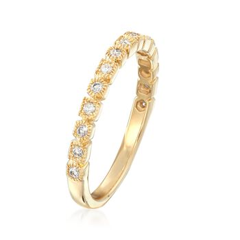 .17 ct. t.w. Diamond Round and Square Motif Ring in 14kt Yellow Gold, , default