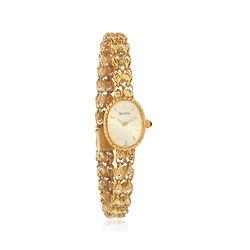 C. 1990 Vintage Bulova Women's Watch in 14kt Yellow Gold, , default