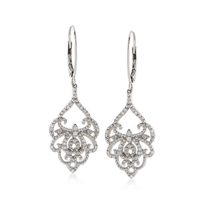 .25 ct. t.w. Diamond Chandelier Drop Earrings in Sterling Silver, , default