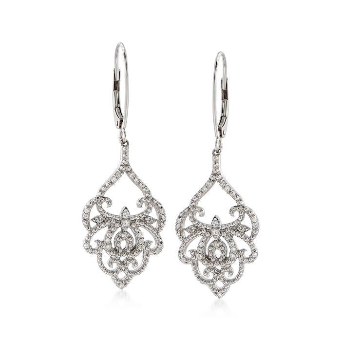 .25 ct. t.w. Diamond Chandelier Drop Earrings in Sterling Silver, , default