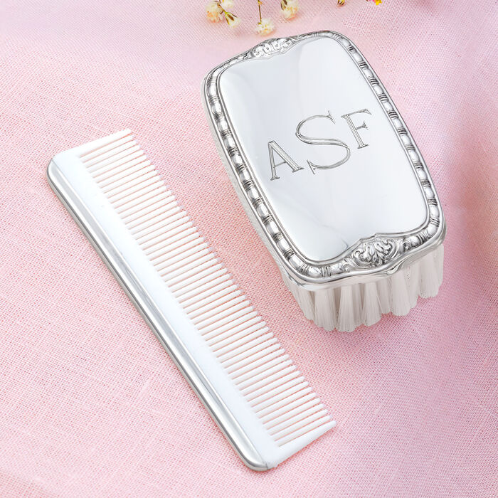 Empire Pewter Child's Personalized Brush and Comb Set, , default