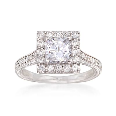 Gabriel Designs .75 ct. t.w. Diamond Engagement Ring Setting in 14kt White Gold