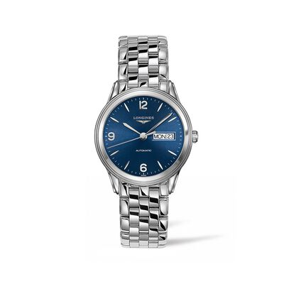 Longines Flagship Men's 38.5mm Automatic Stainless Steel Watch - Blue Dial, , default