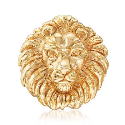 Italian 14kt Yellow Gold Lion Pin, , default
