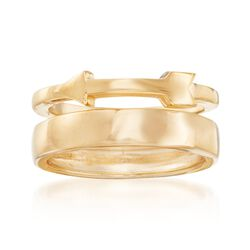 18kt Gold Over Sterling Stacked-Look Arrow Ring, , default