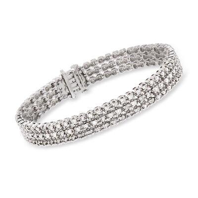 5.00 ct. t.w. Diamond Three-Row Tennis Bracelet in 14kt White Gold, , default