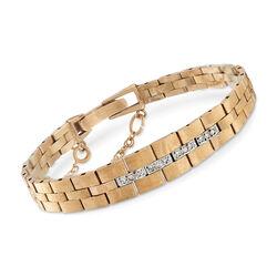 C. 1970 Vintage .10 ct. t.w. Diamond Center Link Bracelet, , default