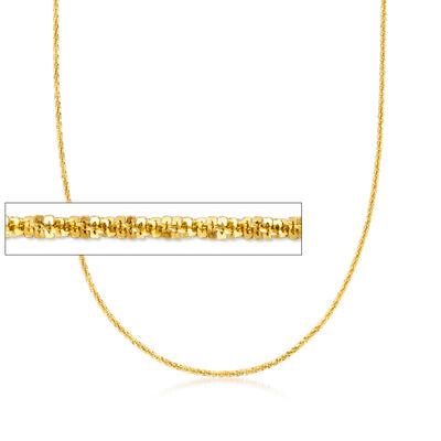 Italian 1.5mm 18kt Gold Over Sterling Adjustable Crisscross Chain