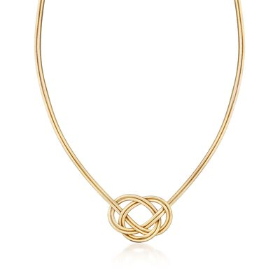 Italian Two-Strand Flex Knot Necklace with 18kt Gold Over Sterling, , default